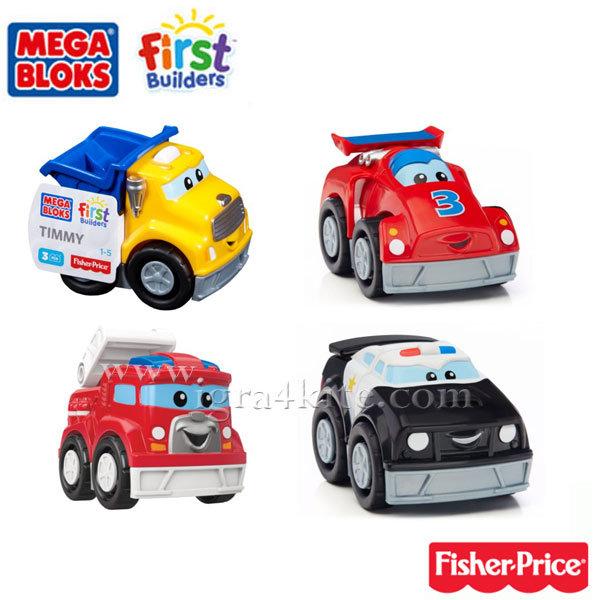 Fisher Price Mega Bloks - Моят първи строител Автомобили CXN72