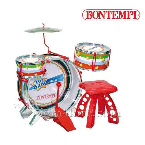 Bontempi - Детски рок барабани със стол и светлина 191002