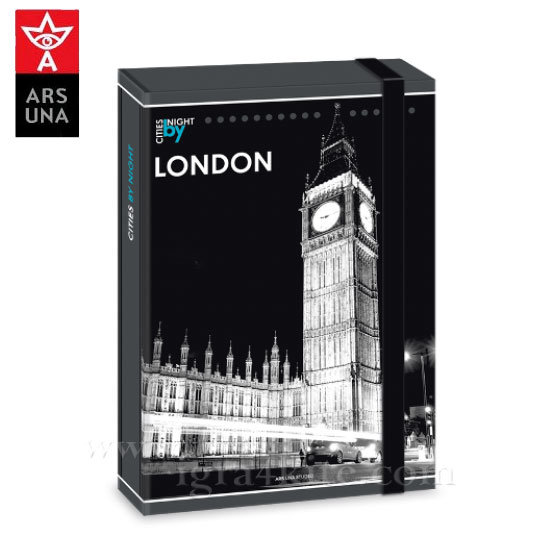 Ars Una - The Cities of the World Папка кутия с ластик А4 Ars Una 90857713