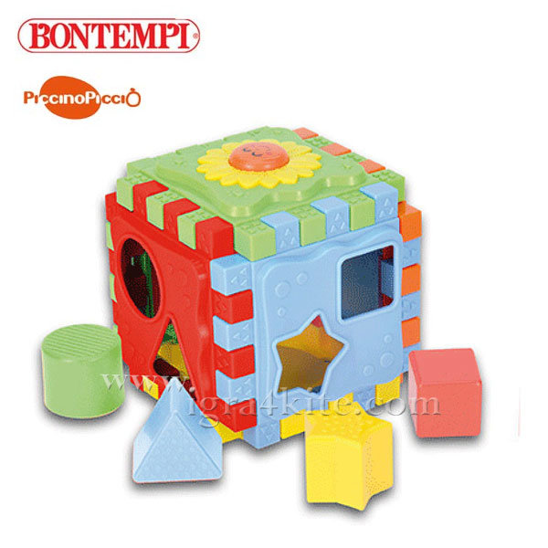 Bontempi - Бебешки образователен куб с формички 193078