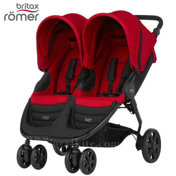 Britax Romer - Количка за близнаци B-Agile Double Flame Red