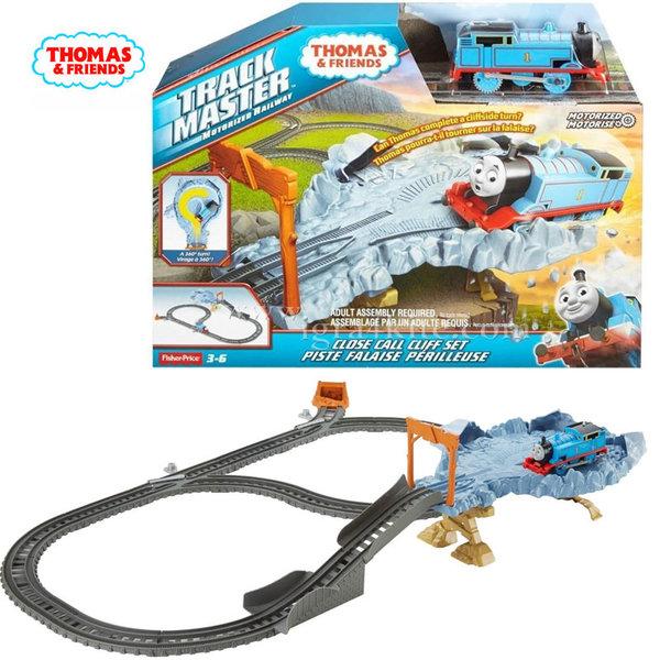 Fisher Price - Влакчето Томас Железопътно трасе с опасна скала dfm51