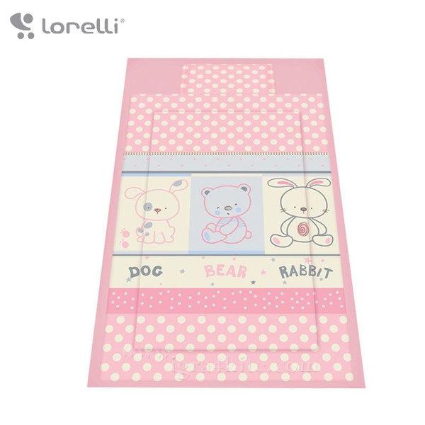 Lorelli - Спален комплект 3 части Приятели Розов 20800012402