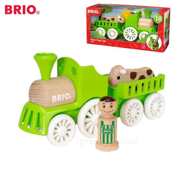 Brio - Дървено влакче с крава 30267