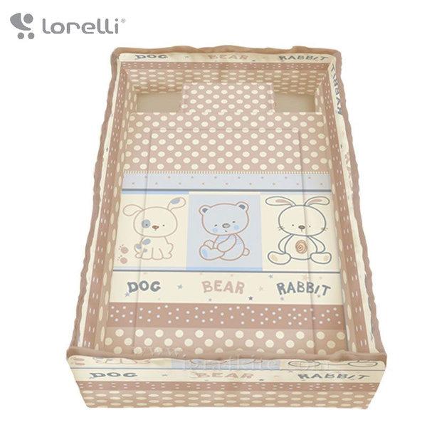 Lorelli - Спален комплект Лили 4 части 60/120 Приятели Екрю 20800142403