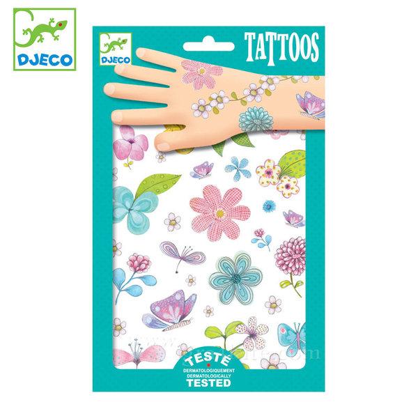 Djeco - Детски татуировки Цветя dj09585