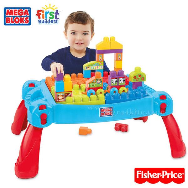 Fisher Price Mega bloks - Детска маса със строителни блокчета cnm42