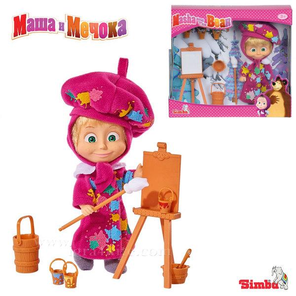 Simba Маша и Мечока - Кукла МАША художничка 109302047