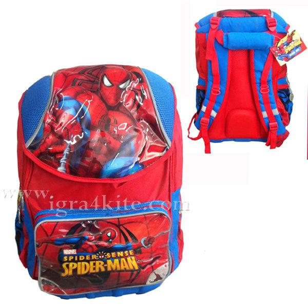 Spiderman - Ученическа раница Spider man с подплатен гръб 1131