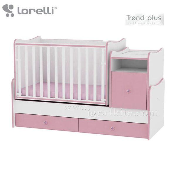 Lorelli - Детско легло TREND PLUS Розово 10150400020A