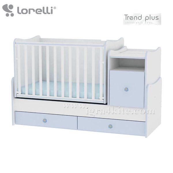 Lorelli - Детско легло TREND PLUS Синьо 10150400022A