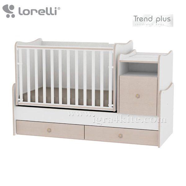 Lorelli - Детско легло TREND PLUS Бяло/Дъб 10150400029A