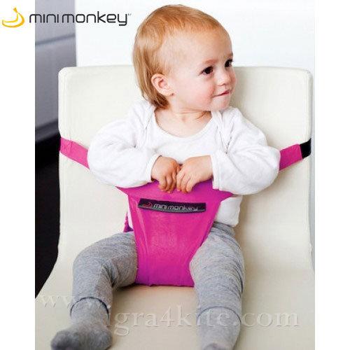 MiniMonkey - Текстилна седалка Minichair розова