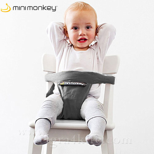 MiniMonkey - Текстилна седалка Minichair сива