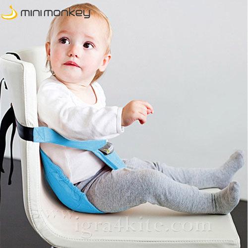 MiniMonkey - Текстилна седалка Minichair тюркоаз