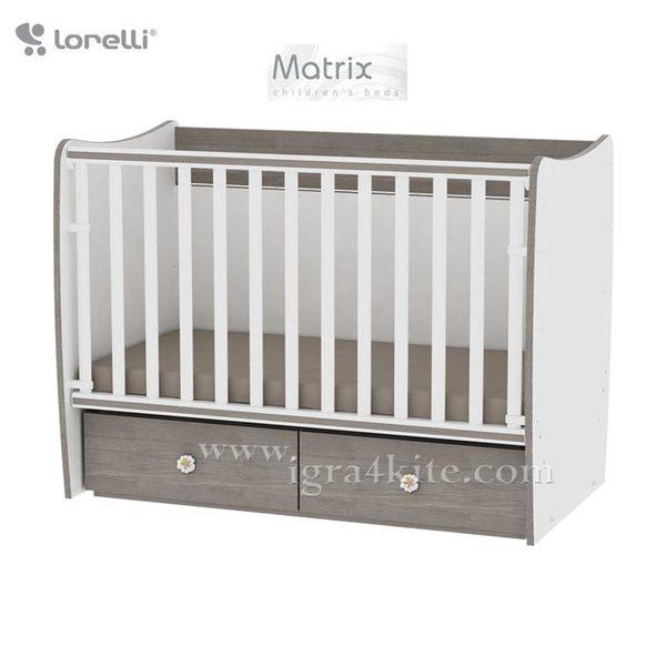 Lorelli - Бебешко легло - люлка MATRIX 60 x 120 см Бяло/Кафе