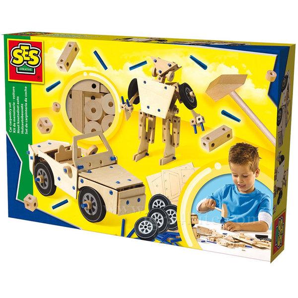 SES Creative - Дървен конструктор 14586