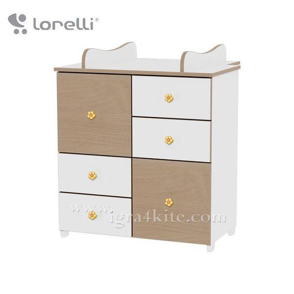 Lorelli - Детски шкаф Бяло/Бук