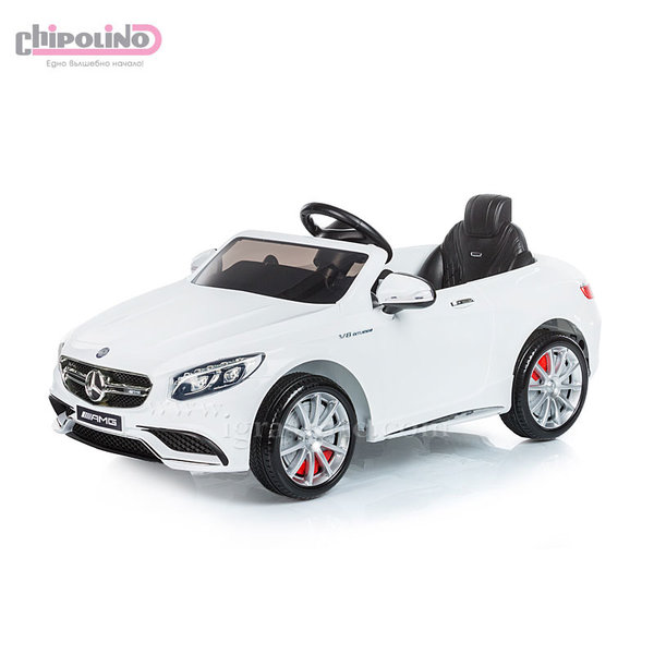 Chipolino - Акумулаторна кола Mercedes Benz AMG с дистанционно управление бяла