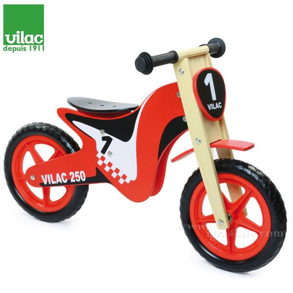 Vilac - Дървено колело за баланс червено 1004