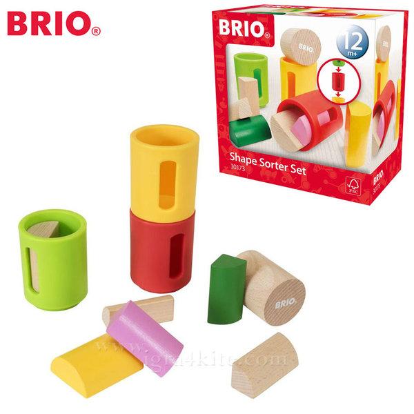 Brio - Дървени формички за сортиране 30173