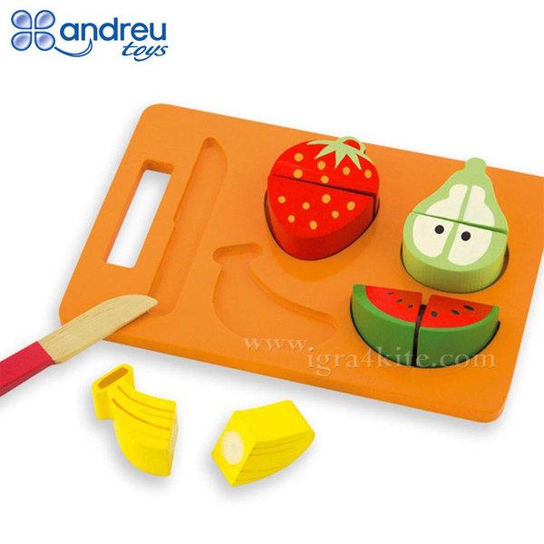 Andreu Toys - Дървени плодове за рязане 16402