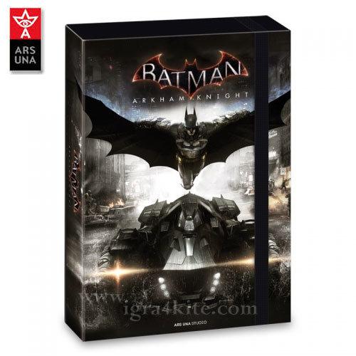 Ars Una Batman - Папка кутия с ластик А4 Батман АрсУна 90857676