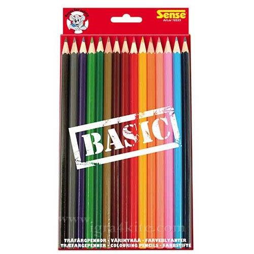 Sense - Цветни моливи 15 цвята 10335