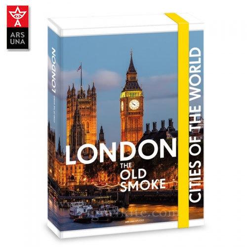 Ars Una - The Cities of the World Папка кутия с ластик А4 Лондон Ars Una 90857751
