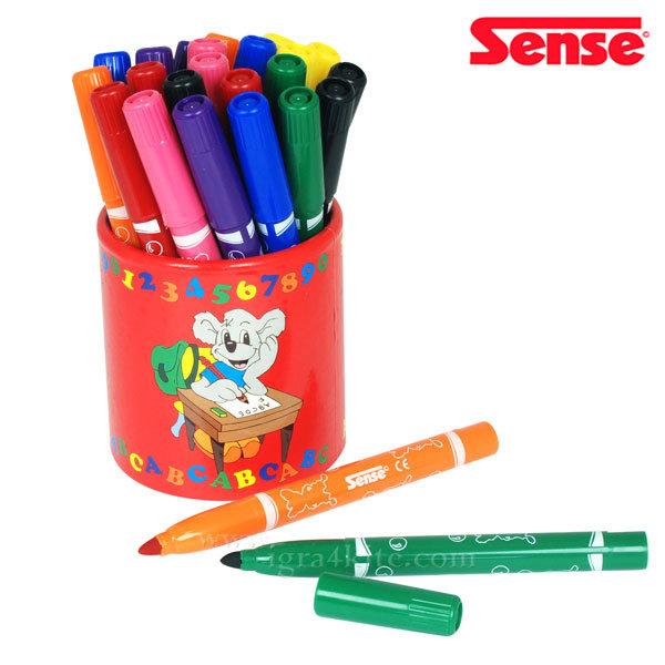 Sense - Флумастери с моливник 42 цвята 10520