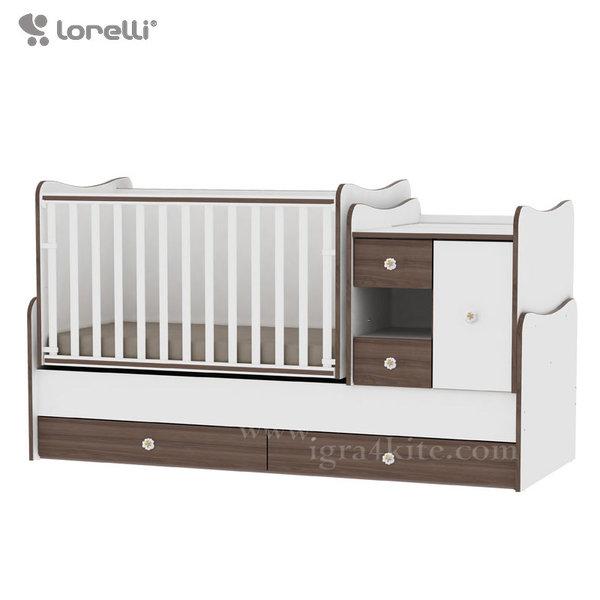 Lorelli - Бебешко легло - люлка MiniMAX 4в1 Бяло/Орех 10150500026A
