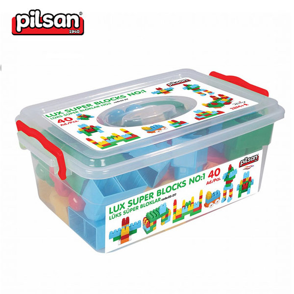 Pilsan - Детски строител Lux 40 части  03217