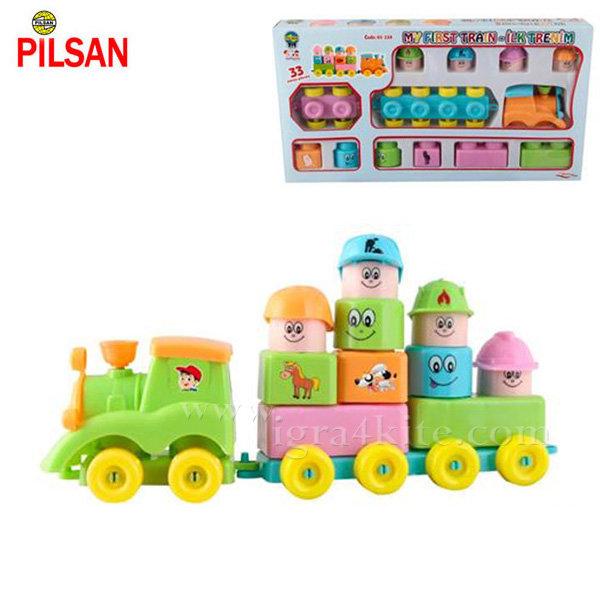 Pilsan - Детски строител Моето първо влакче 03228