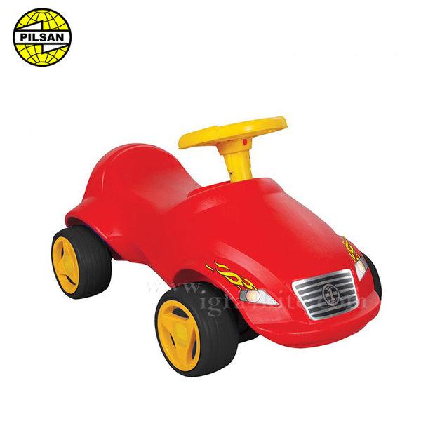 Pilsan - Кола за бутане с крачета Fast червена 07820