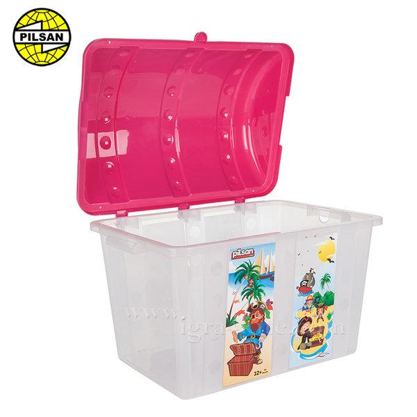 Pilsan - Кош за играчки Пирати Розов 06189