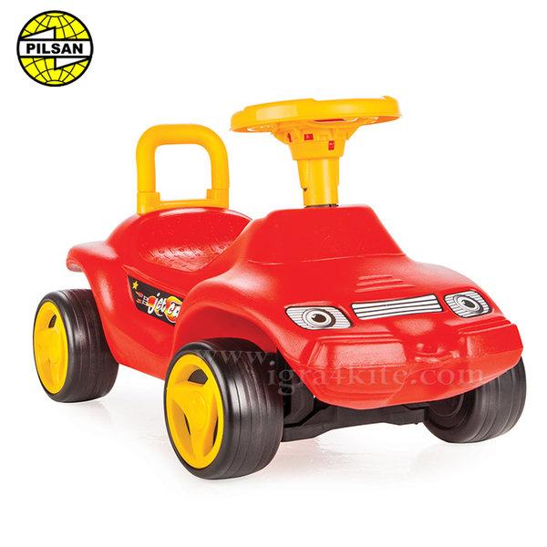Pilsan - Кола за бутане с крачета Jet Car Червена 06806