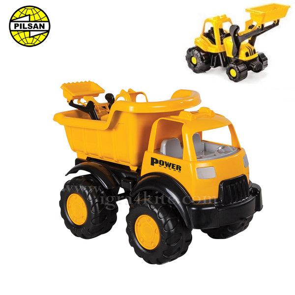 Pilsan - Детски камион с багер 2в1 49см 06518
