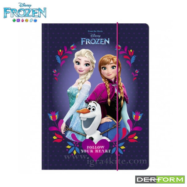 Disney Frozen - Папка с ластик А4 Замръзналото кралство 33980