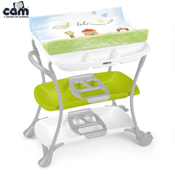 Cam - Анатомична вана с шкаф и подложка за повиване Nuvola c610008/222