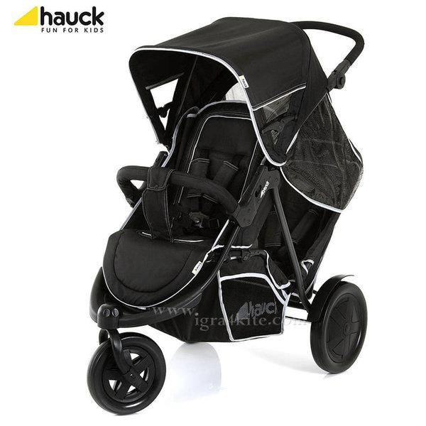 Hauck - Количка за две деца Freerider Black 513040