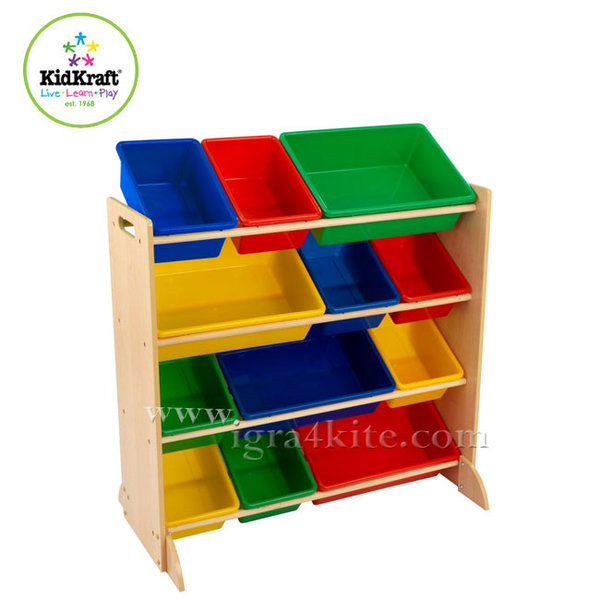 Kidkraft - Детска дървена етажерка за играчки 16774