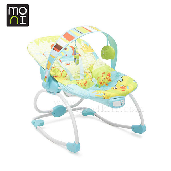 Moni - Детски шезлонг люлка Merry син 101375