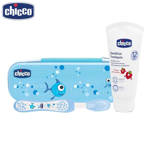 Chicco - Комплект четка и паста за зъби в несесер 6959.2