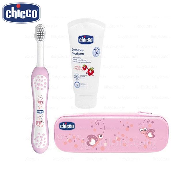 Chicco - Комплект четка и паста за зъби в несесер 6959.1