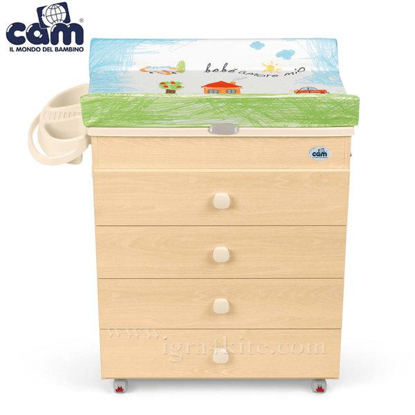 Cam - Детски скрин с вана и подложка за повиване Asia C916006