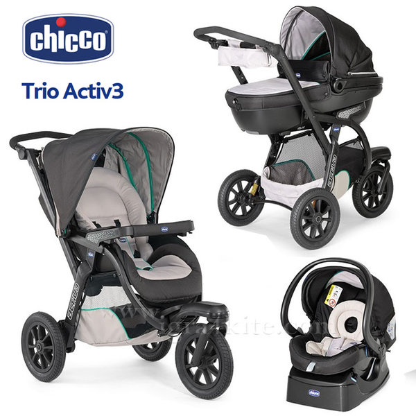 Chicco - Комбинирана количка Trio Active3 dune 79270.3