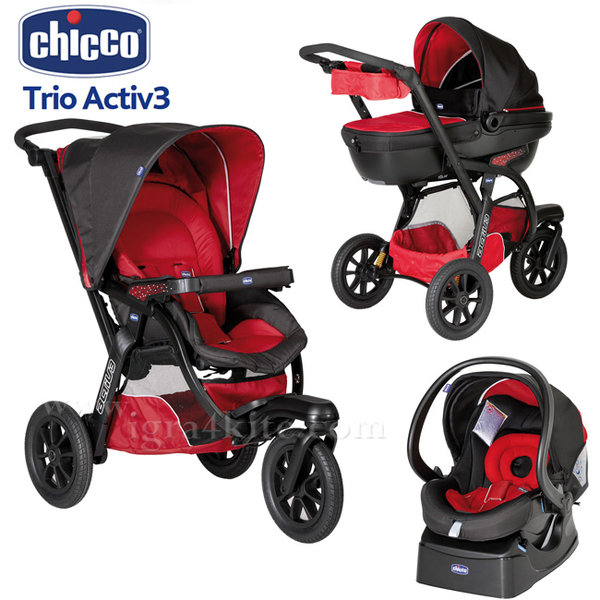 Chicco - Комбинирана количка Trio Active3 race 79270.78