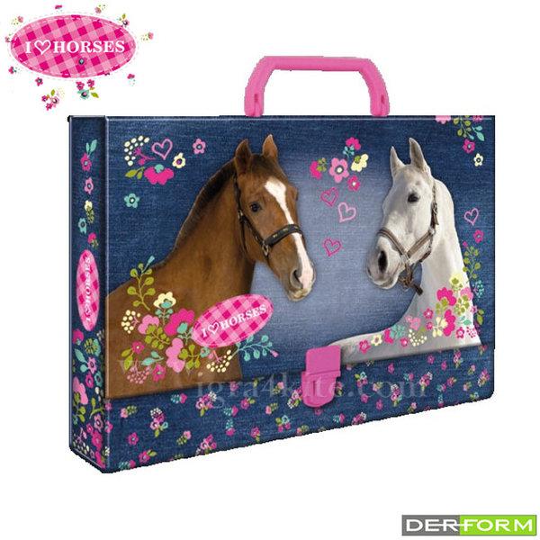 I Love Horses - Куфарче с дръжка Кончета 39104