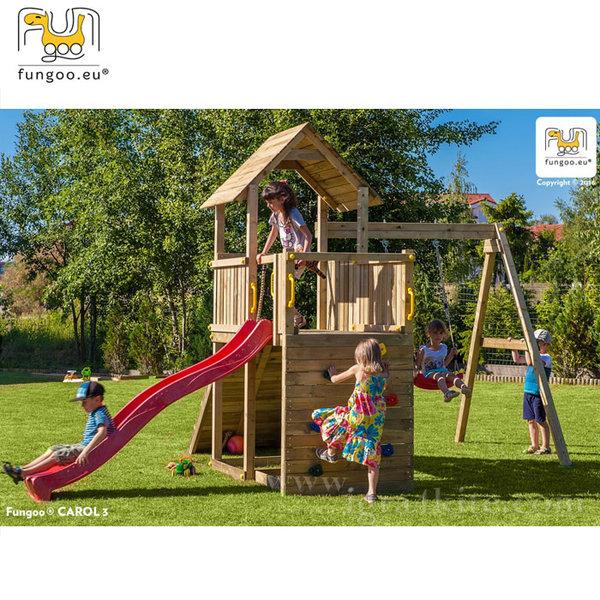 Fungoo - Детска площадка с люлка, пързалка и катерушка Carol3 03005