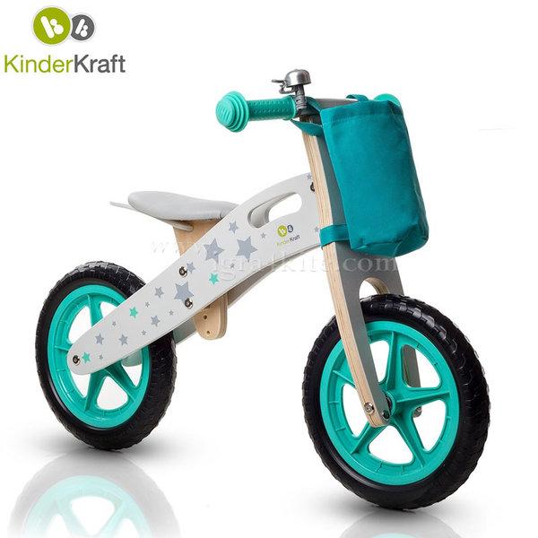 KinderKraft - Дървено колело за балансиране Runner Stars 99178